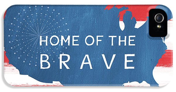Home Of The Brave IPhone 5 / 5s Case by Linda Woods
