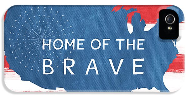 July 4th iPhone 5 Cases - Home Of The Brave iPhone 5 Case by Linda Woods