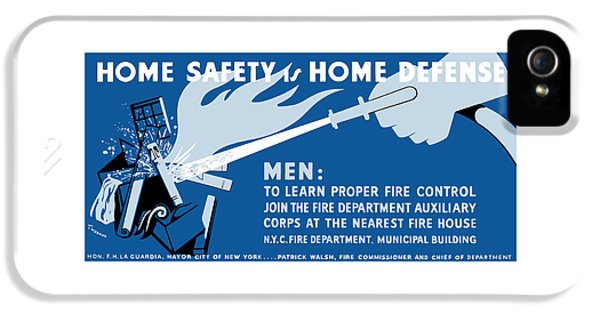 Fire Works iPhone 5 Cases - Home Safety Is Home Defense iPhone 5 Case by War Is Hell Store