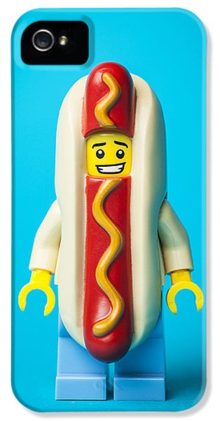 Hotdogs iPhone 5 Cases - Hotdog Dude iPhone 5 Case by Samuel Whitton