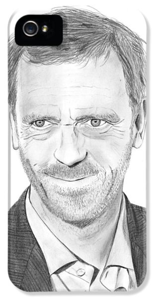 House Md iPhone 5 Cases - Hugh Laurie iPhone 5 Case by Gabor Vida