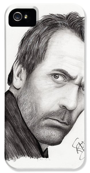 House Md iPhone 5 Cases - Hugh Laurie iPhone 5 Case by Rosalinda Markle