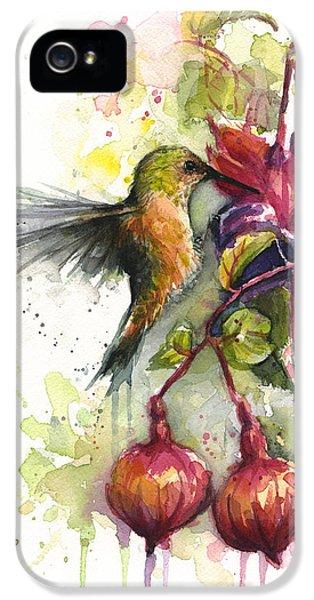 Hummingbird And Fuchsia IPhone 5 / 5s Case by Olga Shvartsur