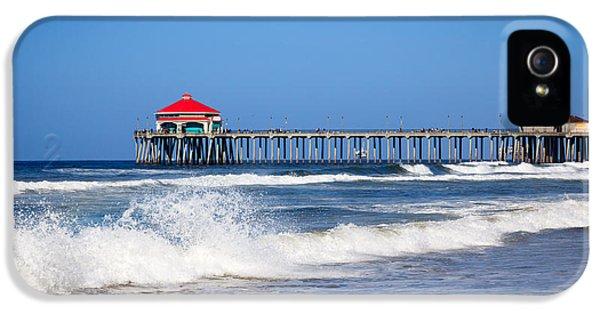 Orange County iPhone 5 Cases - Huntington Beach Pier Photo iPhone 5 Case by Paul Velgos