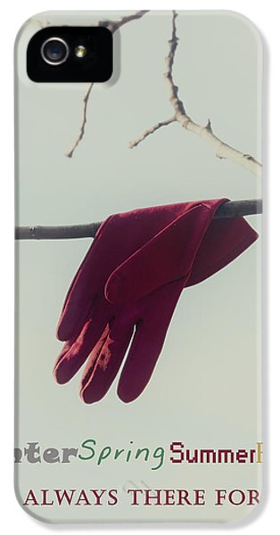 Glove iPhone 5 Cases - I am always there for you iPhone 5 Case by Joana Kruse