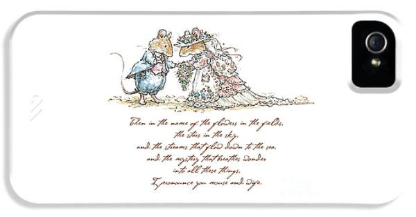 I Pronounce You Mouse And Wife IPhone 5 / 5s Case by Brambly Hedge
