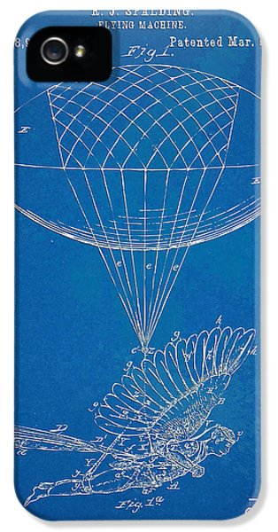 Steam-punk iPhone 5 Cases - Icarus Airborn Patent Artwork iPhone 5 Case by Nikki Marie Smith