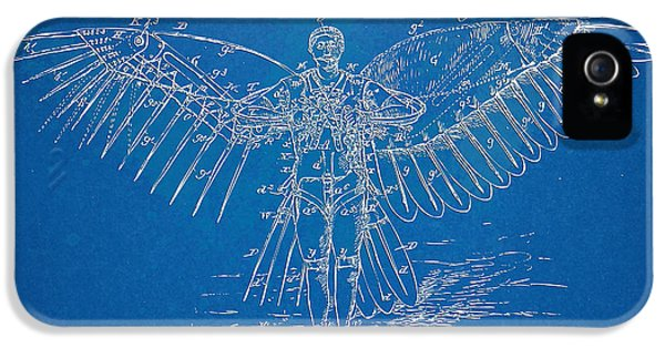 Steam-punk iPhone 5 Cases - Icarus Flying Machine Patent Artwork iPhone 5 Case by Nikki Marie Smith