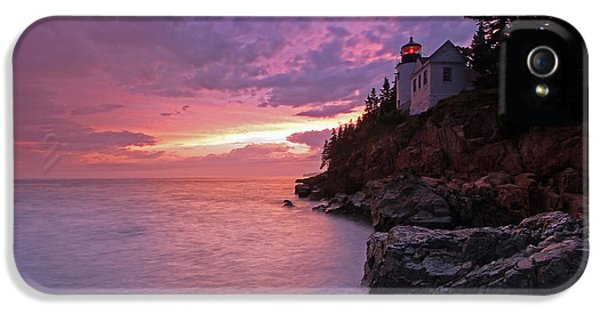 National Portrait Gallery iPhone 5 Cases - Iconic Bass Harbor Lighthouse iPhone 5 Case by Juergen Roth