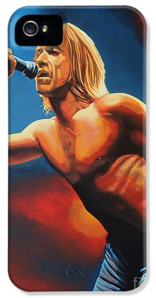 Iggy Pop Painting IPhone 5 / 5s Case by Paul Meijering