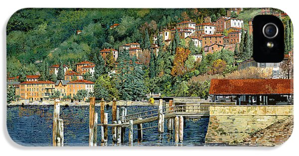 Harbour iPhone 5 Cases - il porto di Bellano iPhone 5 Case by Guido Borelli