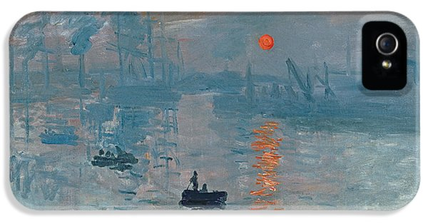 Boats iPhone 5 Cases - Impression Sunrise iPhone 5 Case by Claude Monet