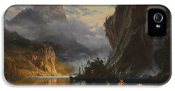 Indians Spear Fishing IPhone 5 / 5s Case by Albert Bierstadt