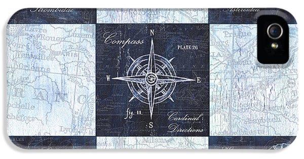 Indigo Nautical Collage IPhone 5 / 5s Case by Debbie DeWitt
