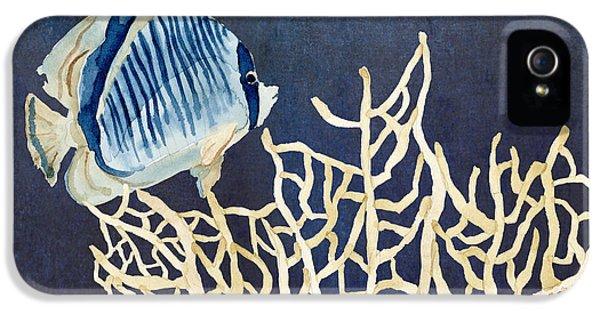 Indigo Ocean - Tan Fan Coral N Angelfish IPhone 5 / 5s Case by Audrey Jeanne Roberts