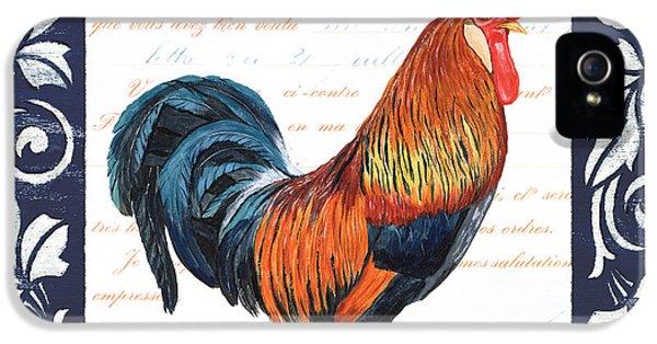 Livestock iPhone 5 Cases - Indigo Rooster 1 iPhone 5 Case by Debbie DeWitt
