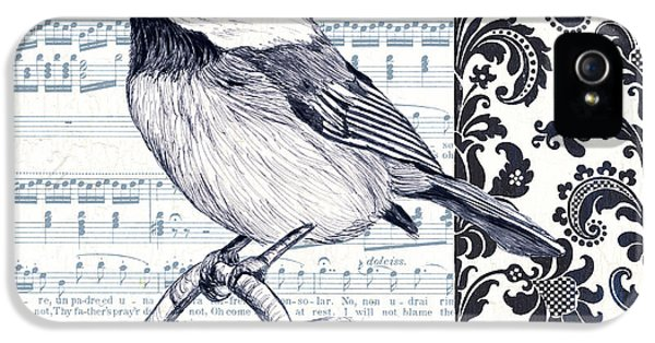 Beak iPhone 5 Cases - Indigo Vintage Songbird 2 iPhone 5 Case by Debbie DeWitt