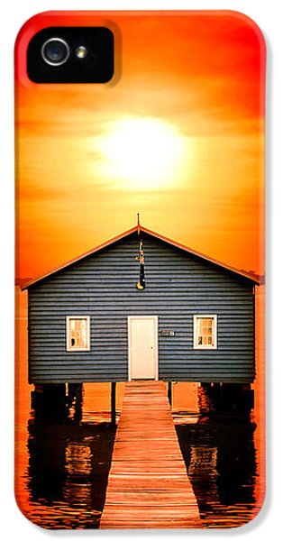Shed iPhone 5 Cases - Blood Sunset Panorama iPhone 5 Case by Az Jackson
