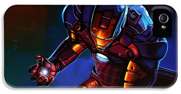 Man iPhone 5 Cases - Iron Man iPhone 5 Case by Paul  Meijering