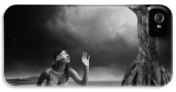 Fear iPhone 5 Cases - Is There Anybody Out There? iPhone 5 Case by Erik Brede