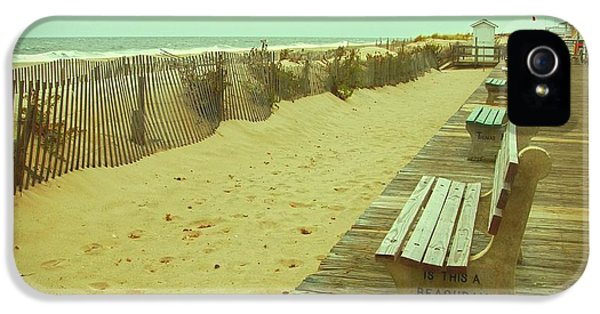 Gate iPhone 5 Cases - Is This A Beach Day - Jersey Shore iPhone 5 Case by Angie Tirado