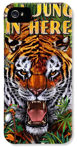 Zoo iPhone 5 Cases - Its a Jungle  iPhone 5 Case by JQ Licensing