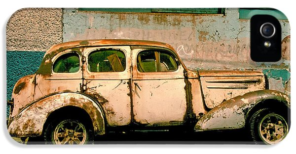 Old Cars iPhone 5 Cases - Jalopy iPhone 5 Case by Skip Hunt