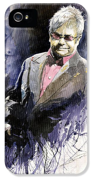 Jazz Sir Elton John IPhone 5 / 5s Case by Yuriy  Shevchuk