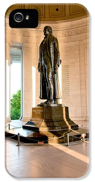 Declaration Of Independance iPhone 5 Cases - Jefferson Memorial iPhone 5 Case by Greg Fortier
