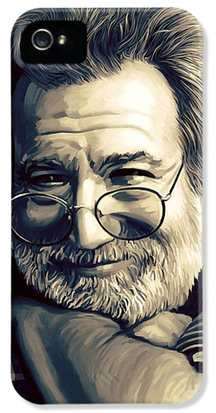 Dead iPhone 5 Cases - Jerry Garcia Artwork  iPhone 5 Case by Sheraz A