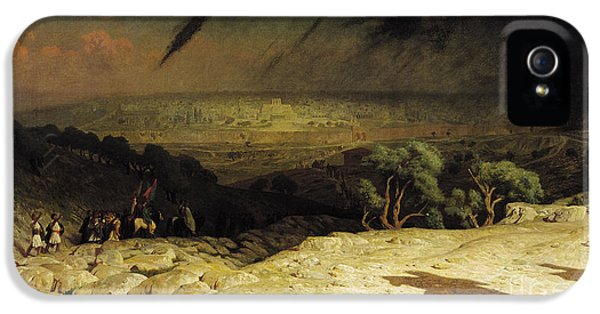 Son Of God iPhone 5 Cases - Jerusalem iPhone 5 Case by Jean Leon Gerome