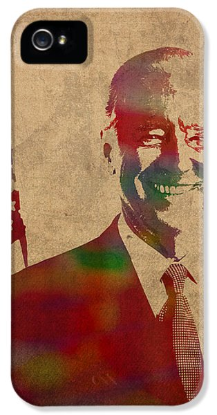Joe Biden Watercolor Portrait IPhone 5 / 5s Case by Design Turnpike