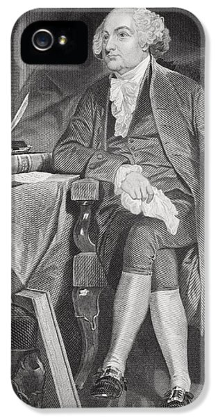 John Adams 1735-1826. First IPhone 5 / 5s Case by Vintage Design Pics