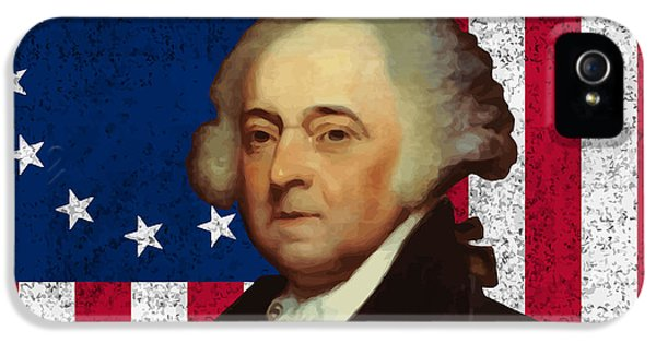 4th July iPhone 5 Cases - John Adams and The American Flag iPhone 5 Case by War Is Hell Store
