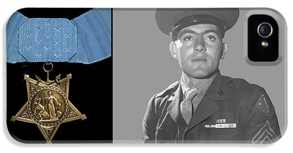 John Basilone And The Medal Of Honor IPhone 5 / 5s Case by War Is Hell Store