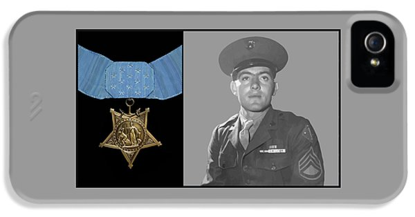Honor iPhone 5 Cases - John Basilone and The Medal of Honor iPhone 5 Case by War Is Hell Store
