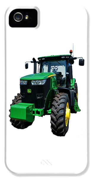 Equipment iPhone 5 Cases - John Deere 7215R iPhone 5 Case by Olivier Le Queinec