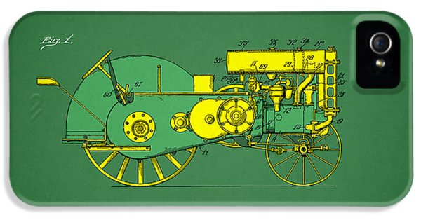Tractor iPhone 5 Cases - John Deere Tractor Patent iPhone 5 Case by Mark Rogan