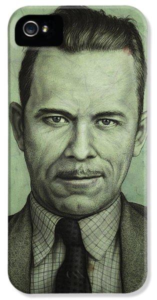 Johnson iPhone 5 Cases - John Dillinger iPhone 5 Case by James W Johnson