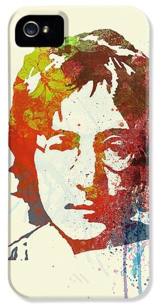British iPhone 5 Cases - John Lennon iPhone 5 Case by Naxart Studio