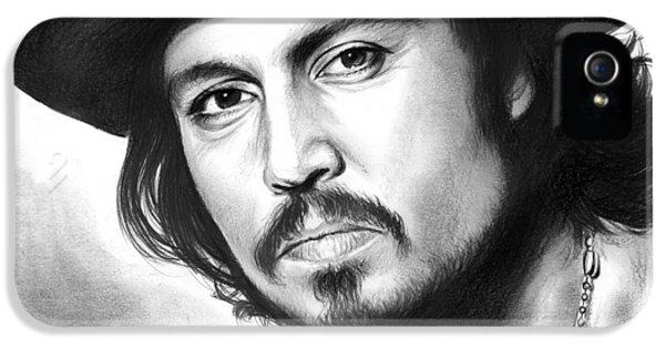 Johnny Depp IPhone 5 / 5s Case by Greg Joens
