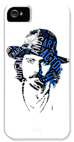Johnny Depp Movie Titles IPhone 5 / 5s Case by Marvin Blaine