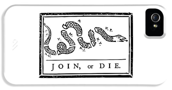 4th July iPhone 5 Cases - Join or Die iPhone 5 Case by War Is Hell Store