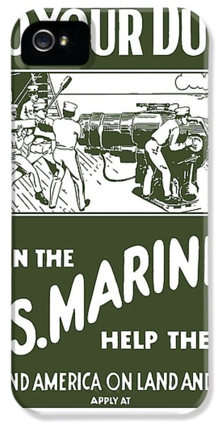 Join The Us Marines IPhone 5 / 5s Case by War Is Hell Store