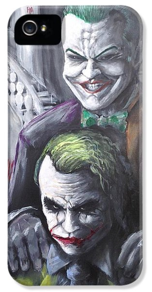Jokery In Wayne Manor IPhone 5 / 5s Case by Tyler Haddox