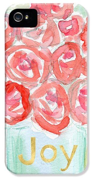 Joyful Roses- Art By Linda Woods IPhone 5 / 5s Case by Linda Woods