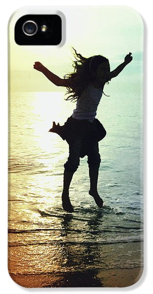 Exuberance iPhone 5 Cases - Jumping For Joy iPhone 5 Case by Skip Nall