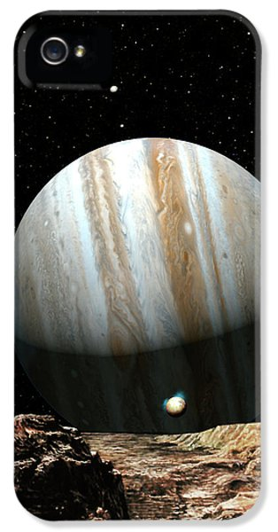 Solar System iPhone 5 Cases - Jupiter Seen From Europa iPhone 5 Case by Don Dixon