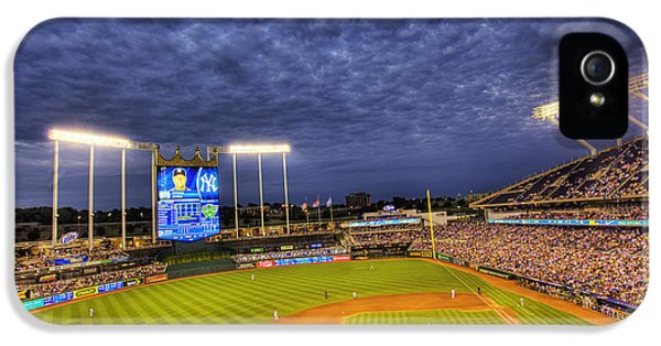 Ballpark iPhone 5 Cases - Kauffman Stadium Twilight iPhone 5 Case by Shawn Everhart