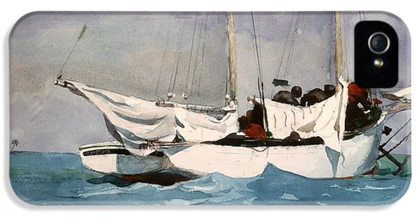 Winslow Homer iPhone 5 Cases - Key West Hauling iPhone 5 Case by Winslow Homer